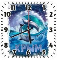 Часы Дельфины ночью 967