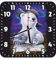 Часы Медвежонок в ушанке 1058