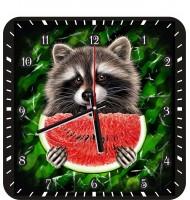 Часы Енот с арбузом 1062