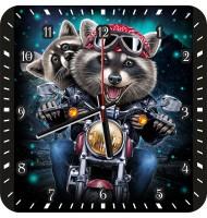 Часы Еноты на мотоцикле 1068