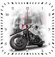 Часы с мотоциклом 1061