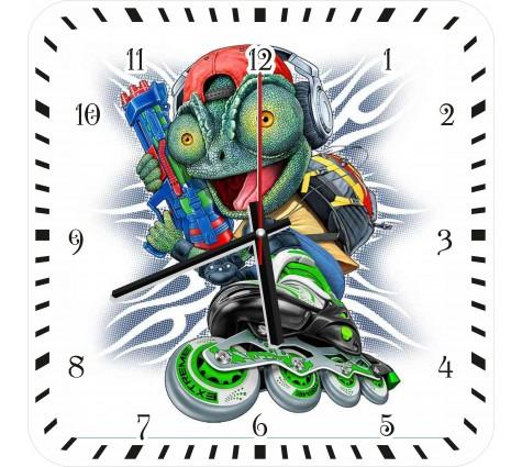 Часы Ящерица на роликах