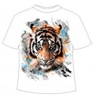 Подростковая футболка с тигром 123