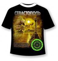 Подростковая футболка Севастополь с гимном 845