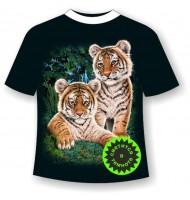 Подростковая футболка Тигрята сафари 865