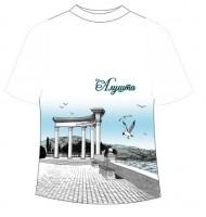 Подростковая футболка Алушта графити