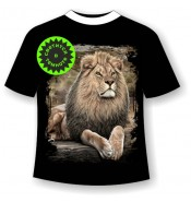 Подростковая футболка Лев на отдыхе 1024