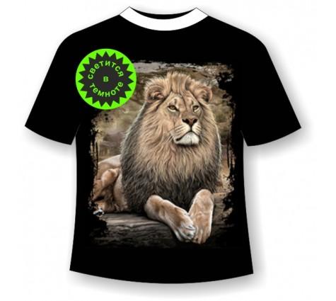 Подростковая футболка Лев на отдыхе