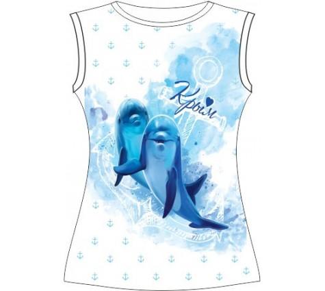 Подростковая футболка Дельфин акварель (L)