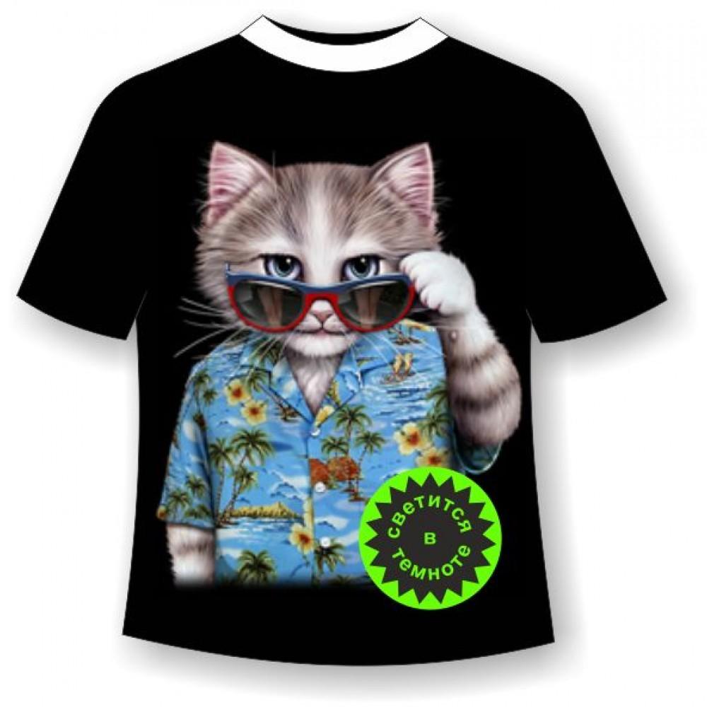 48d20e4036eb Подростковая футболка Кот Алоха купить в интернет магазине с ...