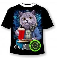 Подростковая футболка Кот бездельник
