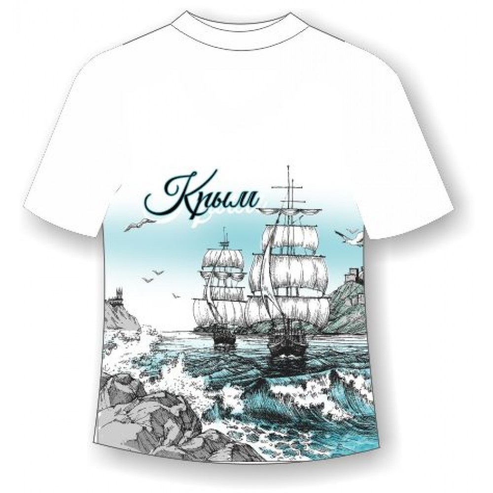 Подростковая футболка Крым графити 717