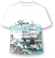 Подростковая футболка Крым графити