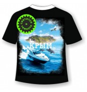 Подростковая футболка Крым катер 985
