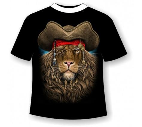 Подростковая футболка Лев пират