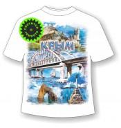 Подростковая футболка Мост коллаж 945