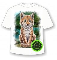 Подростковая футболка Рысенок