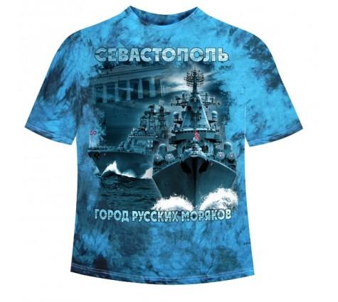 Подростковая футболка Севастополь - Город русских моряков 441 (MM)