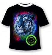 Подростковая футболка Тигр радуга 1028