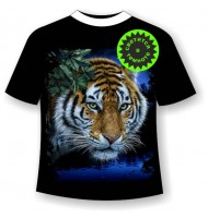 Подростковая футболка Тигр у водопоя