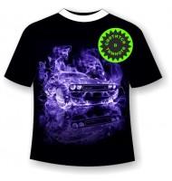Подростковая футболка с машиной 1060