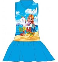 Детское платье Девочка на единороге