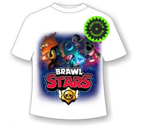 Подростковая футболка Brawl Stars Герои