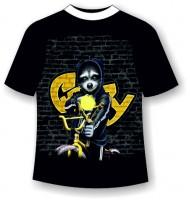 Подростковая футболка Енот с рогаткой