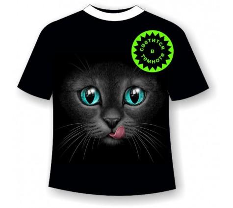Подростковая футболка Кошка с языком