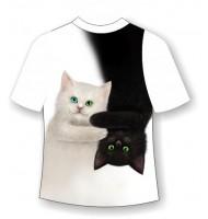 Подростковая футболка День-ночь