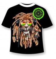 Подростковая футболка Лев с дредами 1109