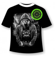Подростковая футболка Лев в толстовке 1067