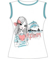 Подростковая футболка Люблю Крым (L) 105