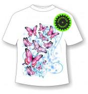 Подростковая футболка с бабочкой 1101