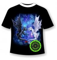 Подростковая футболка с драконами 1107