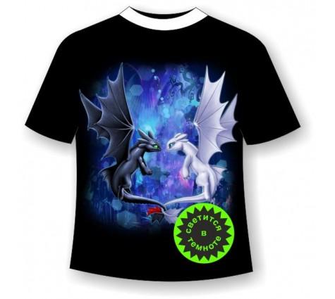 Подростковая футболка с драконами