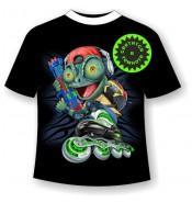 Подростковая футболка с ящерицей 1066