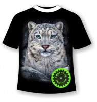 Подростковая футболка Снежный барс 1090