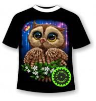 Подростковая футболка Сова сияние 1038