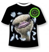 Подростковая футболка Страус 1088