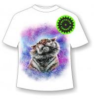 Подростковая футболка Тигр брызги