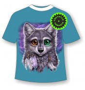 Подростковая футболка Разноглазый волчонок 1048