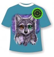 Подростковая футболка Разноглазый волчонок