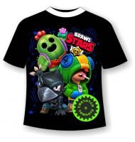 Подростковая футболка Brawl stars герои 2