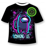 Подростковая футболка Амонг Ас Неон
