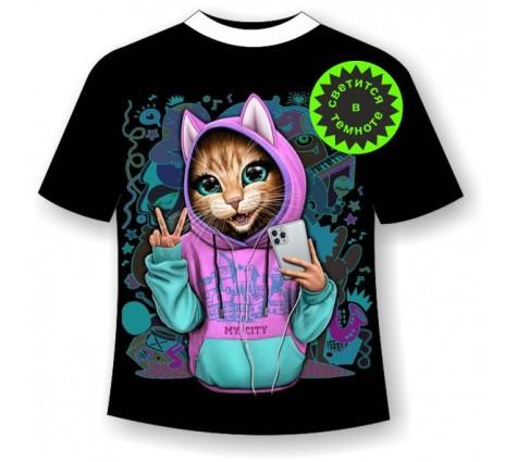 Подростковая футболка Котенок в одежде