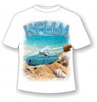 Подростковая футболка Крым бутылка 1175