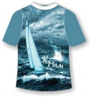 Подростковая футболка Крым непогода