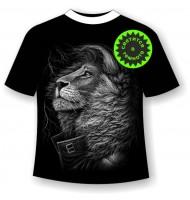 Подростковая футболка Лев стиляга