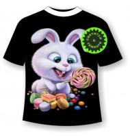 Подростковая футболка Заяц сладкоежка 1179